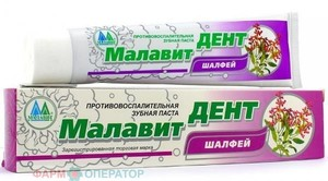 Малавит дент противовоспалительная зубная паста